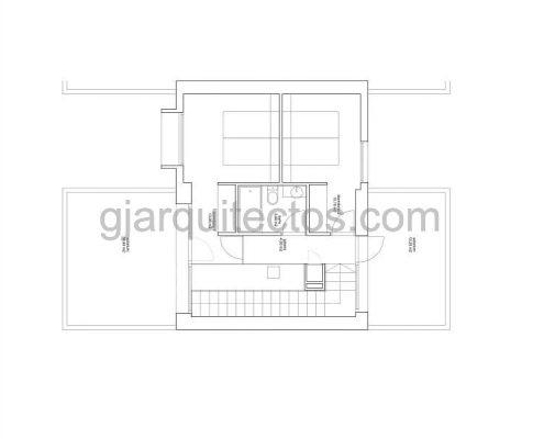 casa modular city 001 - plano primera planta