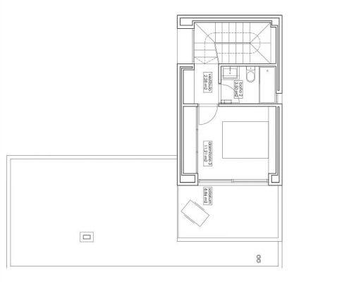 casa modular city 004 - plano primera planta