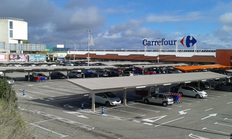 parking carrefour prefabri steel
